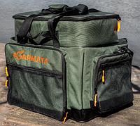 Карповая рыболовная сумка 2в1 GARMATA Trofey. Объем 80 л. Универсальная сумка для рыбалки. Ткань Cordura.