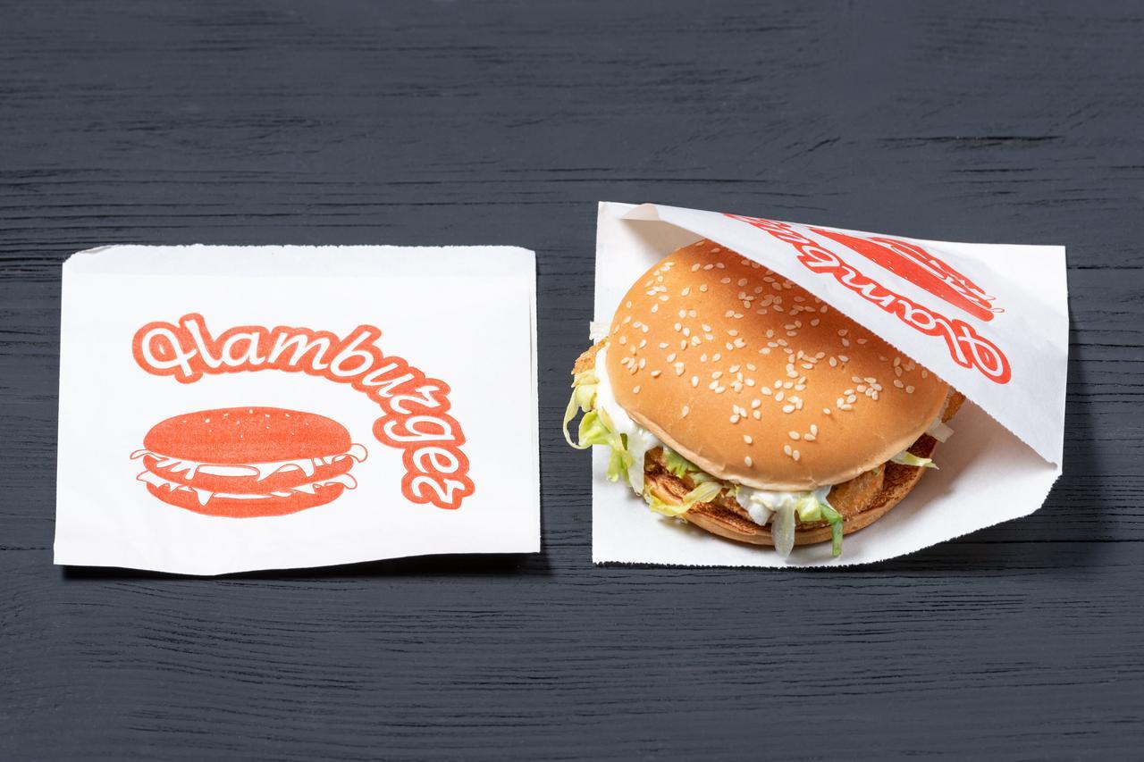 Уголок для гамбургеров бумажный белый 150*130 мм, упаковка 1000 шт