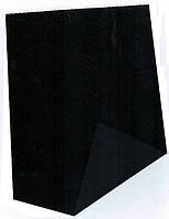 Замша(велюр) искусственный подкладочный на флизелиновой основе чёрный, фото 1
