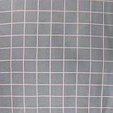Комплект постельного белья сатин синий Листья Koloco Двуспальний 180х220см, фото 2