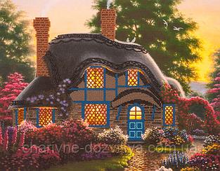 """Набор для вышивания бисером (на подрамнике) """"Сказочный домик"""""""
