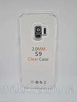 Прозрачный силиконовый чехол 2 мм. для Samsung Galaxy S9