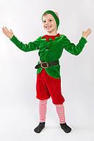 Карнавальний костюм для хлопчиків Різдвяний ельф 92р.