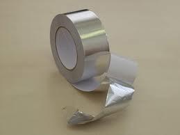 Фольга алюминиевая 30мкм, скотч алюминиевый 75мм *50м