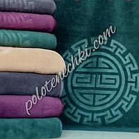 Банное полотенце микрофибра Круглый узор (8)