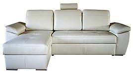 Кожаный диван Филадельфия, не раскладной, серый