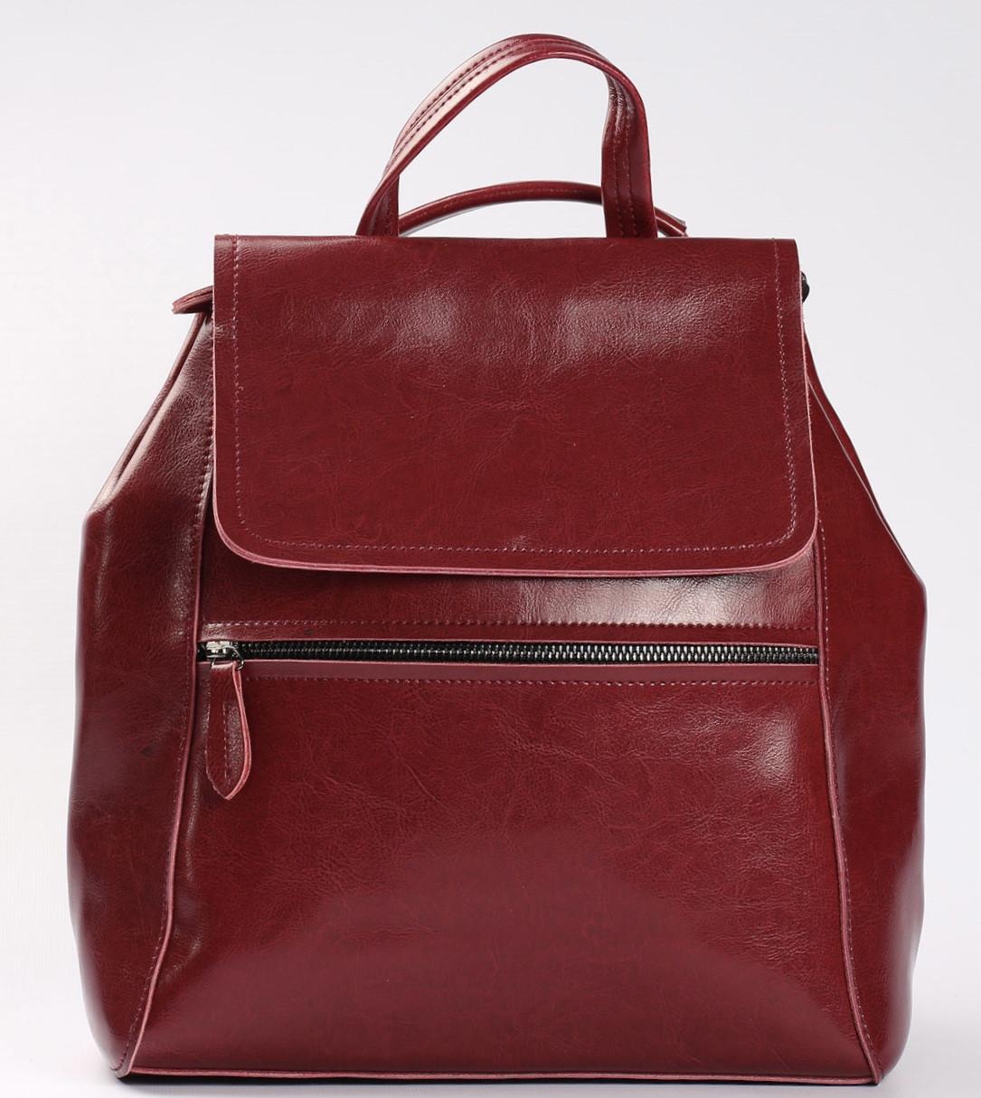 Красный женский рюкзак из натуральной кожи Tiding Bag - 98398