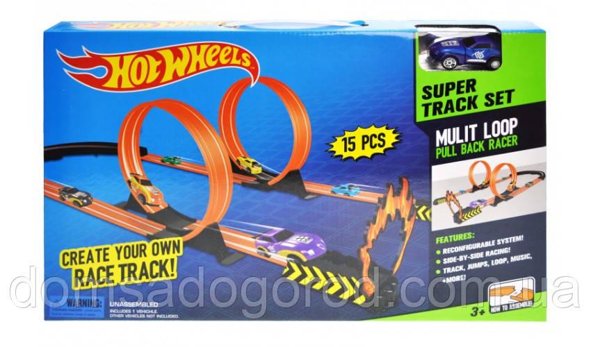 Трек с запуском и машинкой Hot Wheels, 8806