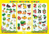 Плакат. Фрукти, овочі, ягоди