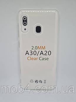 Прозорий силіконовий чохол 2 мм. для Samsung Galaxy A20
