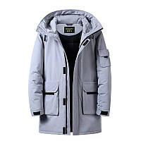 Мужская зимняя куртка парка пуховик, очень тёплая, камуфляж. РАЗМЕРЫ 44-52, фото 1