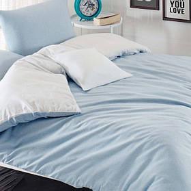Постельное белье Eponj Home Paint - Mix A.Mavi-Beyaz ранфорс евро