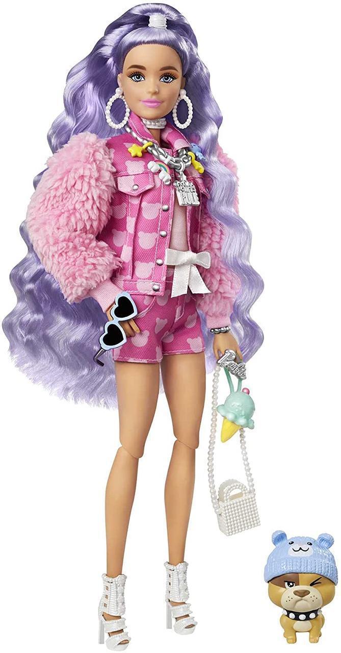 Кукла Барби Экстра с сиреневыми волосами GXF08