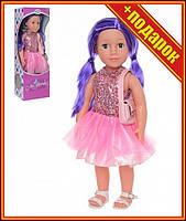 Интерактивная кукла Нина M 3920 высота 48см,Интерактивная кукла,Кукла большая детская,Суперподарок,Говорящая