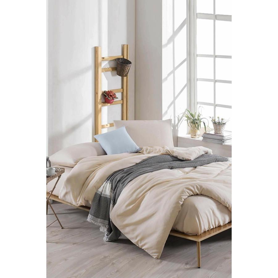 Постільна білизна Eponj Home Paint - D. Boya ранфорс євро Бежевий