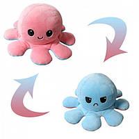 Мягкая игрушка осьминог перевертыш двусторонний «веселый + грустный»