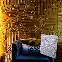 """Гіпсова 3d панелі для стін """"Екс Машина"""" (декоративна стінова 3d панель)"""