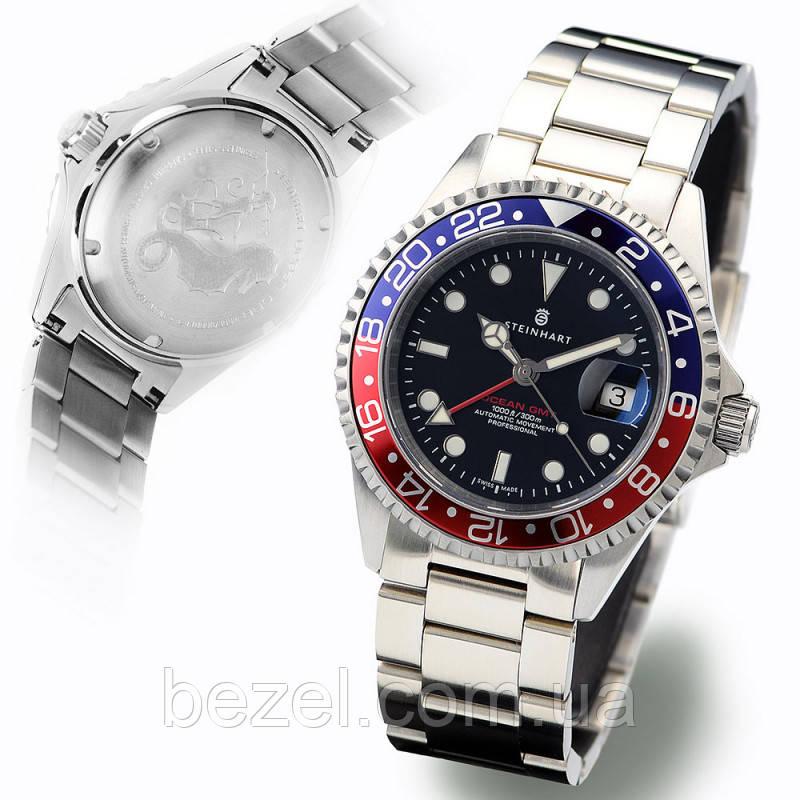 Мужские часы Steinhart Ocean One GMT BLUE-RED 103-0835