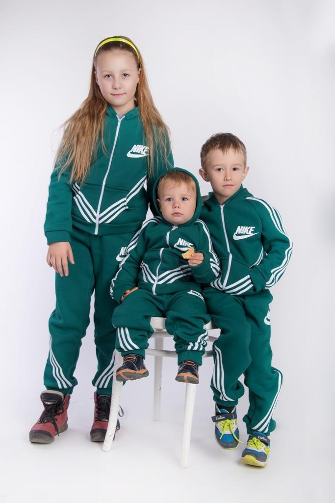 Спортивный костюм детский Найк двойка теплый № 126 е.в., фото 1