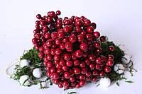 """Глянцевые ягоды (калина глянцевая) 400 шт/уп., 1 см диаметр, цвета """"бургунди"""" оптом"""