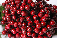 "Глянцевые ягоды (калина) 400 шт/уп. 1 см диаметр, цвета ""марсала"" оптом НГ"