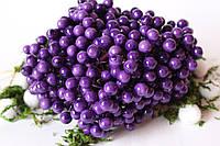 Глянцевые ягоды (калина) 400 шт/уп. 1 см диаметр, фиолетового цвета оптом, фото 1