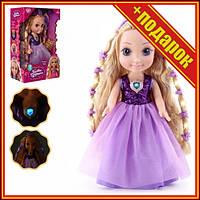 Детская интерактивная кукла M 4485 I UA со светом и звуком,Интерактивная кукла,Кукла большая