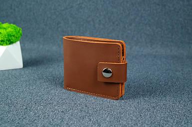 Чоловіче шкіряне портмоне з монетницею з застібкою, натуральна шкіра Grand, колір Віскі