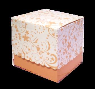 Подарункова коробочка для кружки з принтом, бежева