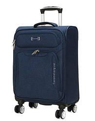 Чемодан тканевый  на 4х колесах малый S  синий | 55*37*20 см | 2.3 кг | 35 л | Snowball 91903