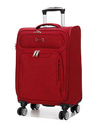 Чемодан тканевый  на 4х колесах малый S  красный | 55*37*20 см | 2.3 кг | 35 л | Snowball 91903