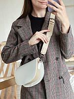 Сумка через плечо женская на широком ремне сумка белая кроссбоди через плечо  модные сумки 2021, фото 1