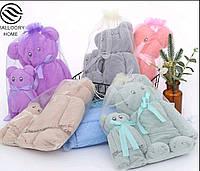 Комплект полотенец микрофибра Мишки