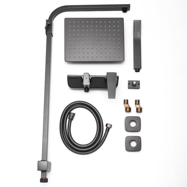 Душевая система с тропическим душем SGG-01 матового серого цвета.