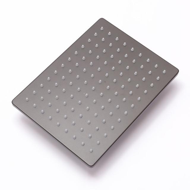 Лейка верхнего душа для душевой колонны SGG-01 квадратной формы с размерами 200 на 200 мм.