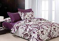 Евро двуспальное постельное белье Вилюта