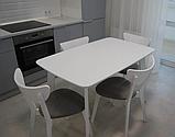 Стілець дерев'яний Модерн білий, фото 4