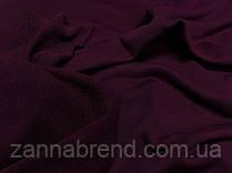 Трикотажна тканина трехнитка петля кольору марсала (Туреччина)