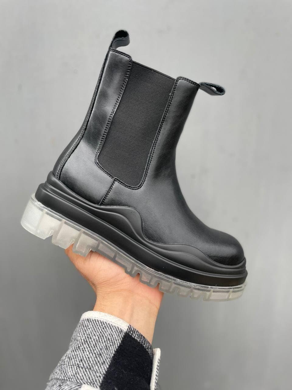 """Ботинки Bottega Veneta Tier No Logo Black """"Черные"""""""