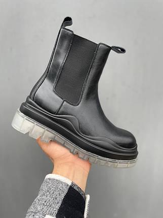 """Ботинки Bottega Veneta Tier No Logo Black """"Черные"""", фото 2"""