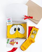 """Подарочный набор мужской. Футболка жёлтая с принтом """"M&M's"""", носки с принтом """"M&M's"""""""