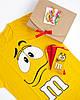 """Подарунковий жіночий набір. Футболка жовта з принтом """"M&M's"""", шкарпетки з принтом """"M&M's"""", фото 2"""