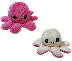 Игрушка мягкая осьминог двухсторонний OCTOPUS 7931, бежево-розовая