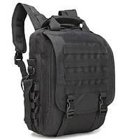 Сумка-рюкзак тактическая TacticBag A28 черная, 30 л Уценка