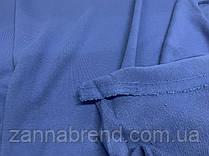 Трикотажна тканина трехнитка петля джинсового кольору (Туреччина)