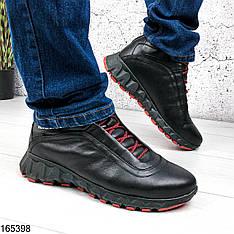 Ботинки мужские зимние Magnum черные из натуральной кожи, на шнурках   Ботинки спорт
