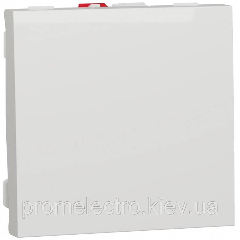 Выключатель 1-клавишный, 10А 2 модуля, белый, Unica NEW NU320118