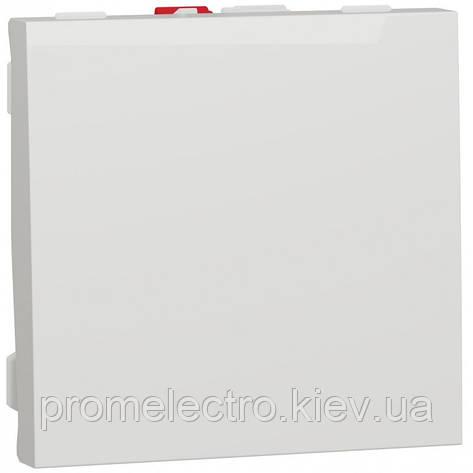 Выключатель 1-клавишный, 10А 2 модуля, белый, Unica NEW NU320118, фото 2