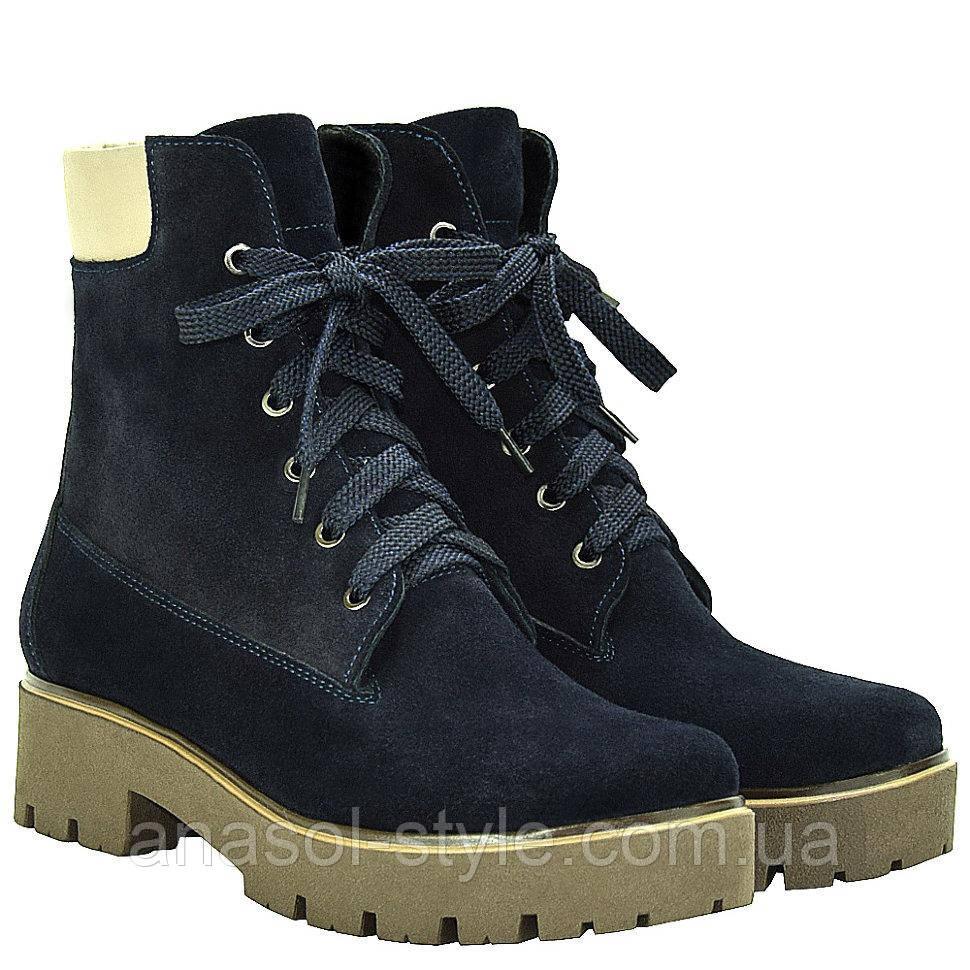 Ботинки La Rose 2034 37(23,6см) Синяя замша