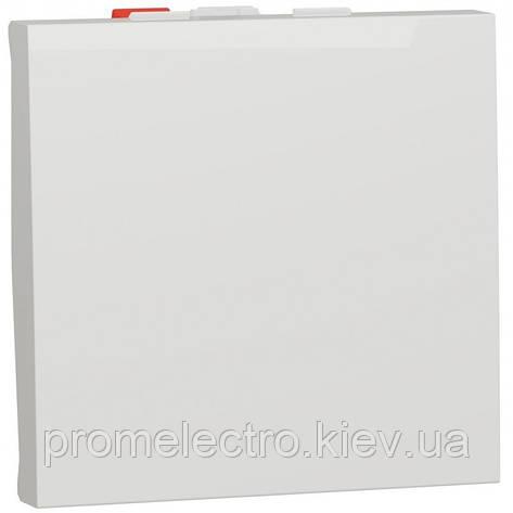 Перемикач 1-клавішний прохідний, 10А, 2 модуля, білий, Unica NEW NU320318, фото 2